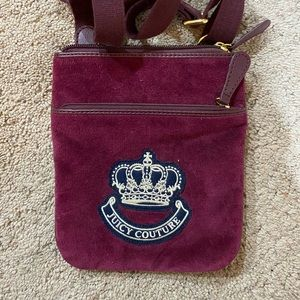 Juicy couture over the shoulder bag